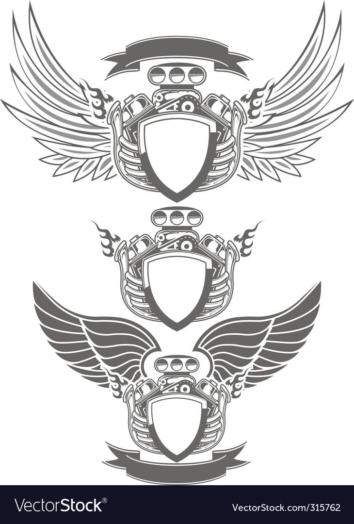 Turbo engine emblem vector | Price: 5 Credit (USD $5)