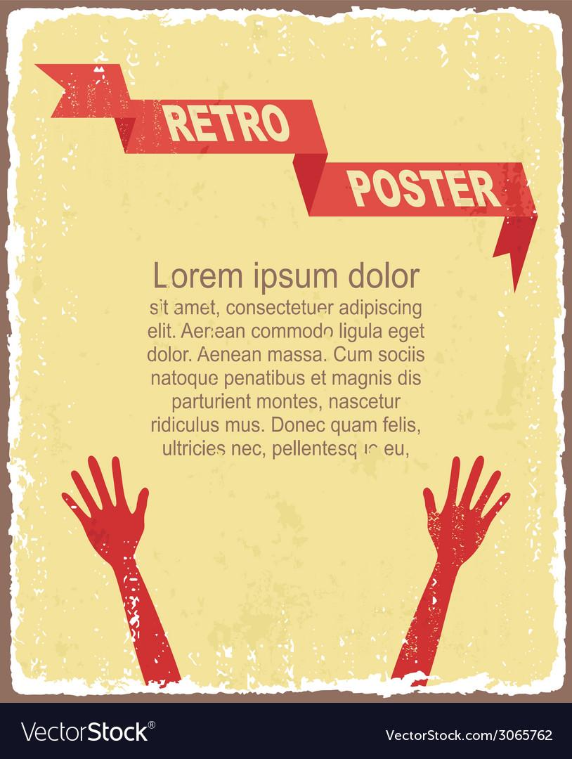 Vintage typography background vector   Price: 1 Credit (USD $1)