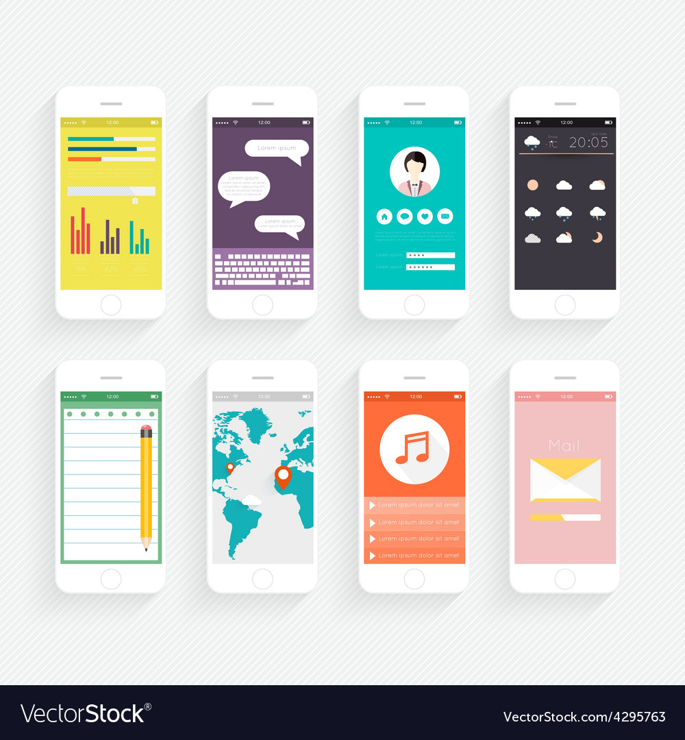 Collection of mobile phones vector | Price: 1 Credit (USD $1)