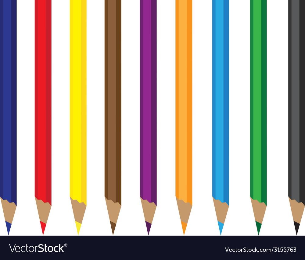 Colored pencils vector | Price: 1 Credit (USD $1)