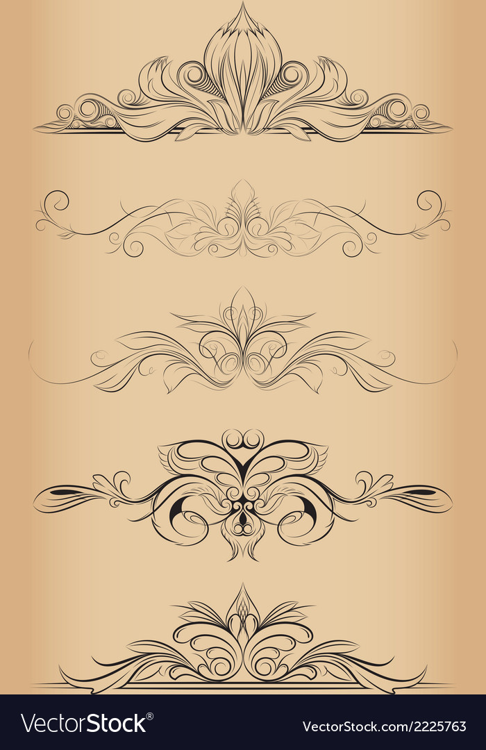 Decorative ornaments vector | Price: 1 Credit (USD $1)