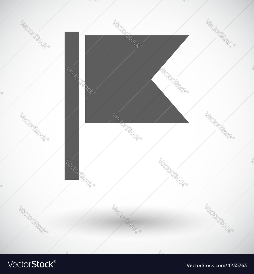 Flag single flat icon vector   Price: 1 Credit (USD $1)