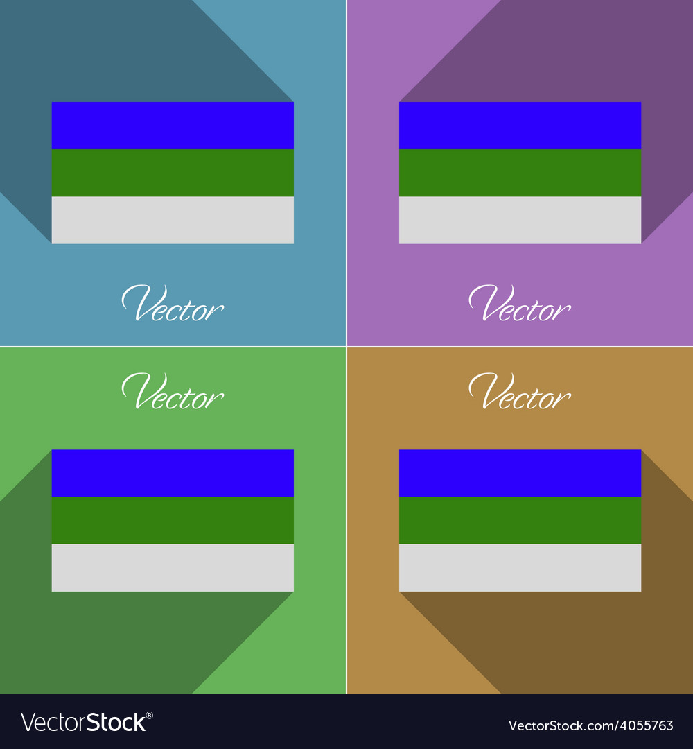 Flags komi set of colors flat design and long vector | Price: 1 Credit (USD $1)