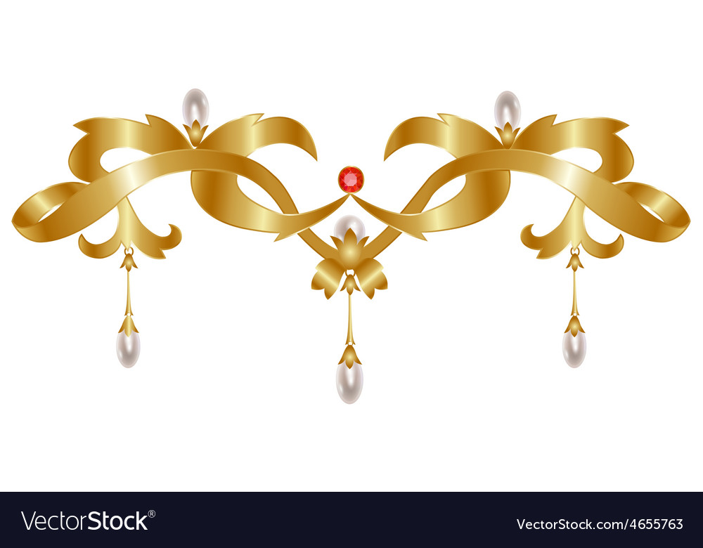 Gold jewelry vector | Price: 1 Credit (USD $1)