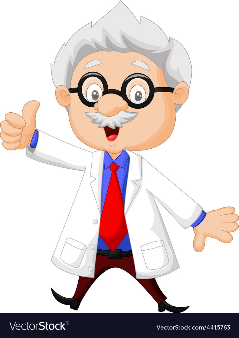 Professor cartoon giving thumb up vector | Price: 1 Credit (USD $1)