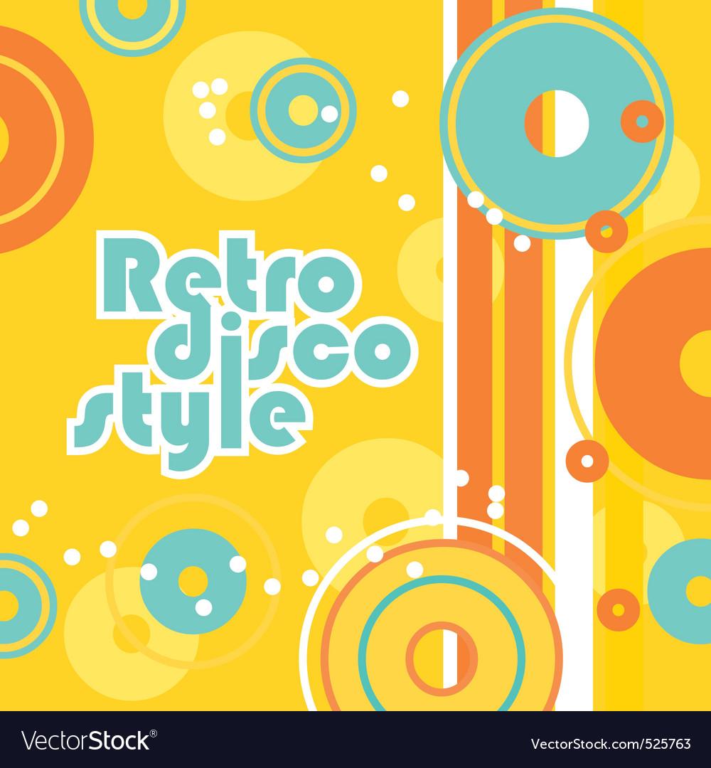 Retro disco style vector | Price: 1 Credit (USD $1)