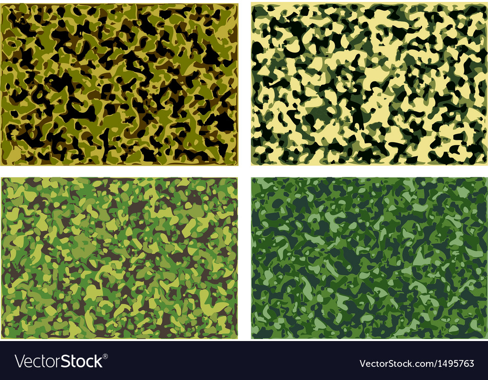 Set of camouflage textures vector | Price: 1 Credit (USD $1)