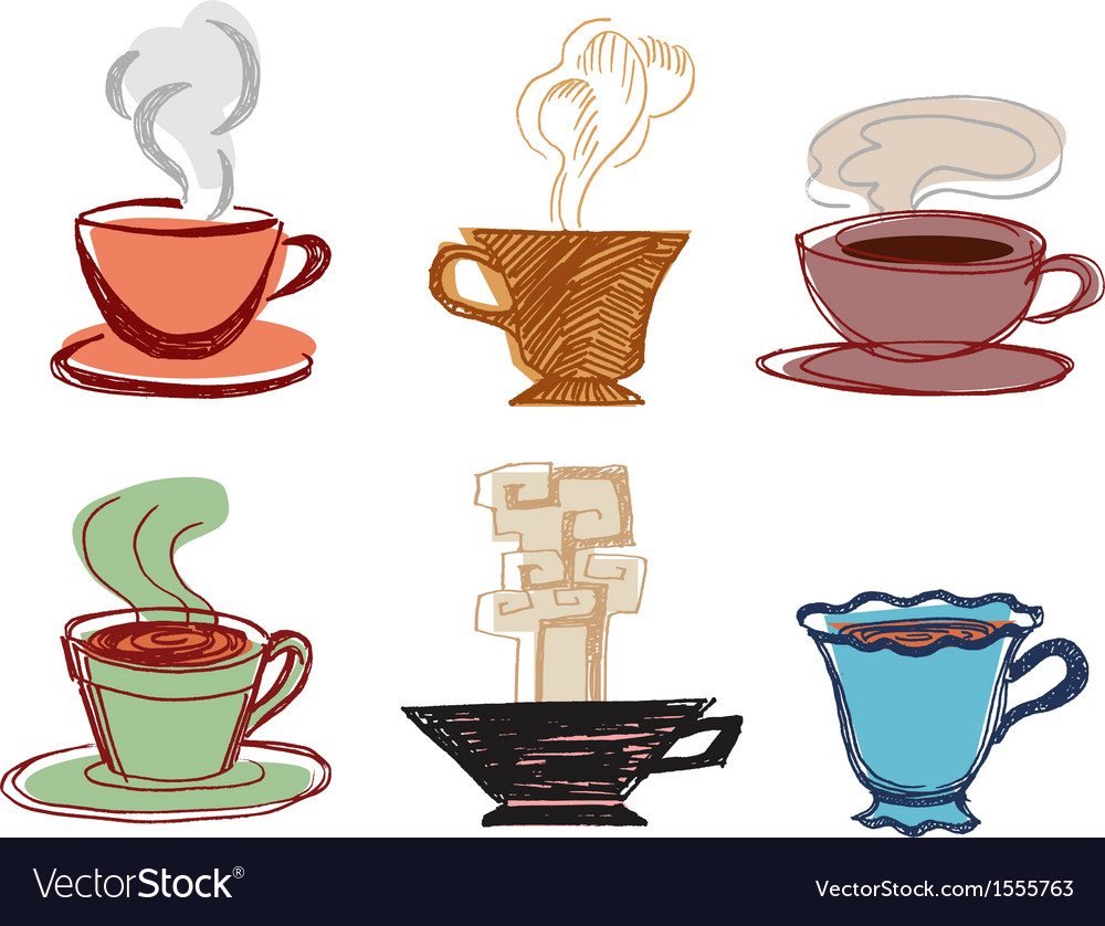 Set of hand drawn cups vector   Price: 1 Credit (USD $1)