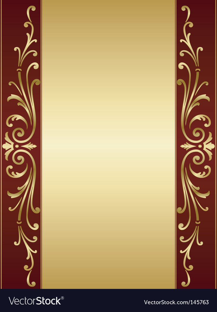 Vintage scroll background vector | Price: 1 Credit (USD $1)