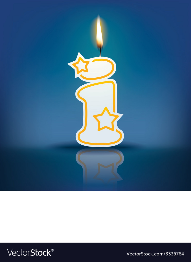 Candle letter i with flame vector | Price: 1 Credit (USD $1)