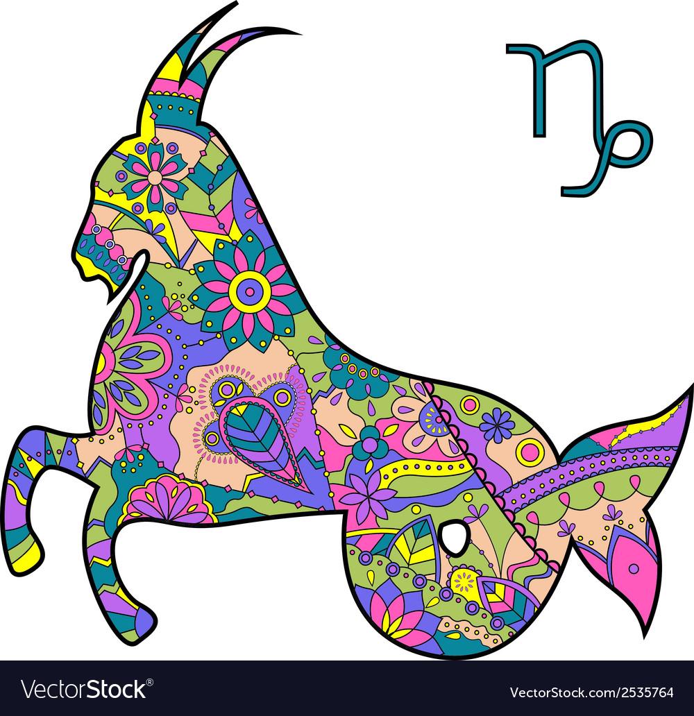 Capricorn zodiac sign vector   Price: 1 Credit (USD $1)