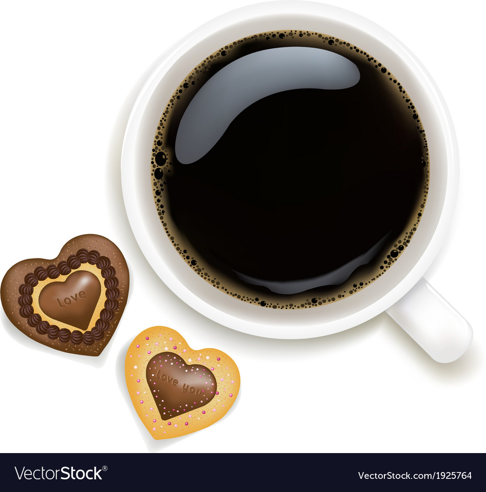 Cup of coffee with cookies vector | Price: 1 Credit (USD $1)