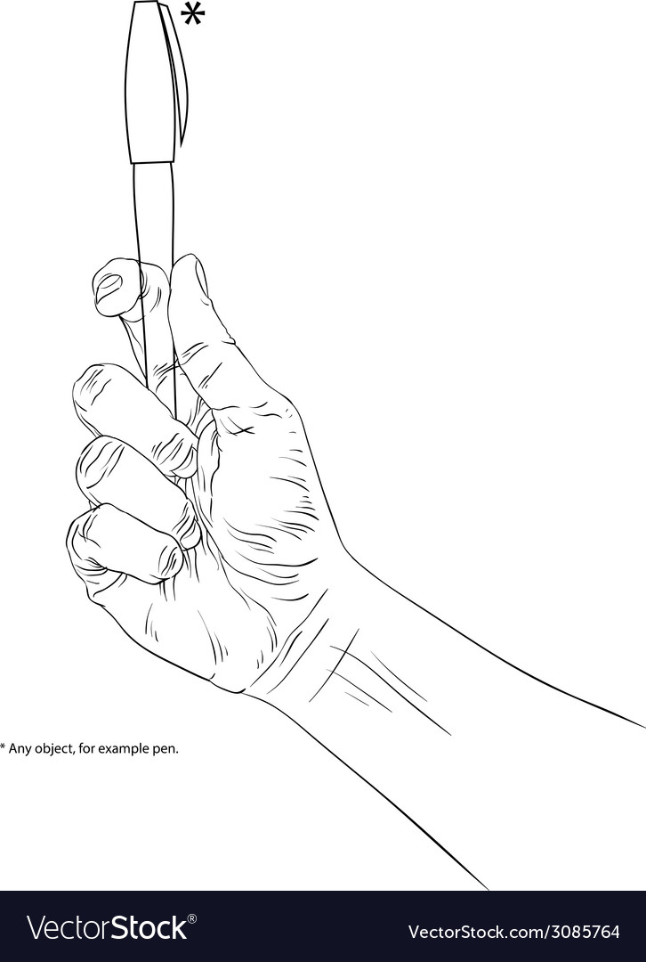 Hand holding pen is editable so you can put any ob vector | Price: 1 Credit (USD $1)