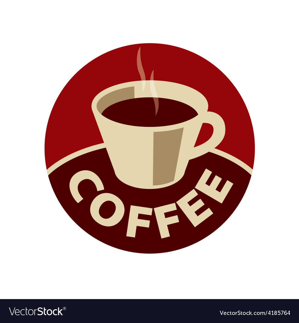 Logo cup of black coffee vector | Price: 1 Credit (USD $1)