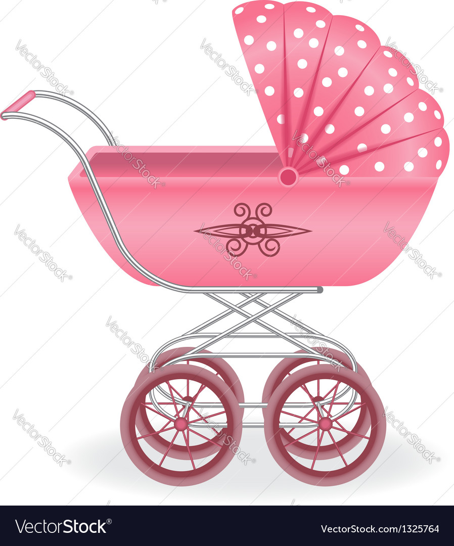 Pink pram vector | Price: 1 Credit (USD $1)