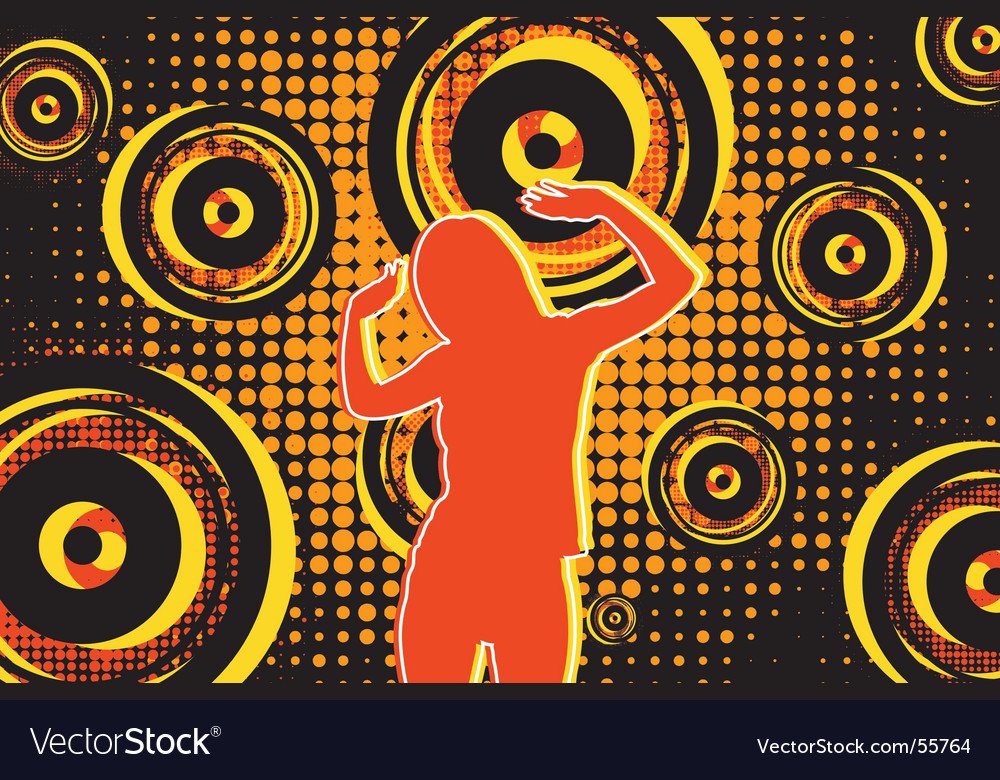 Stereo girl vector | Price: 1 Credit (USD $1)