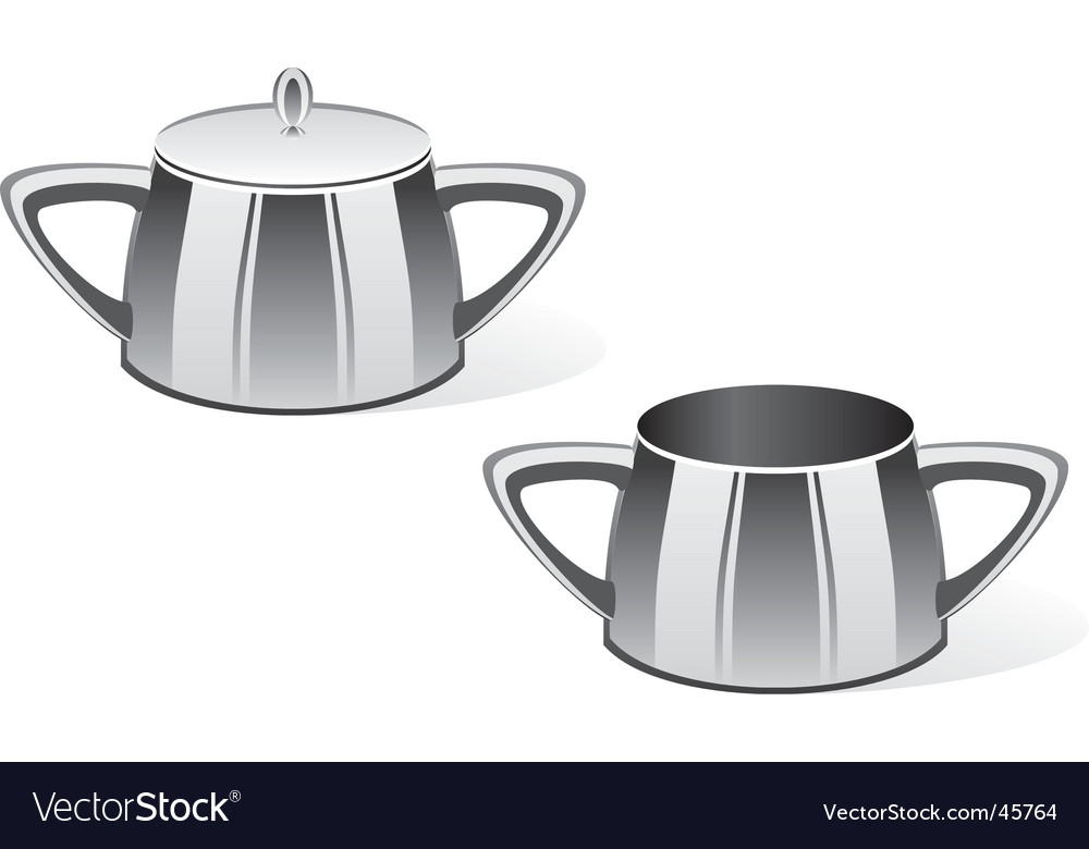 Sugar bowls vector | Price: 1 Credit (USD $1)