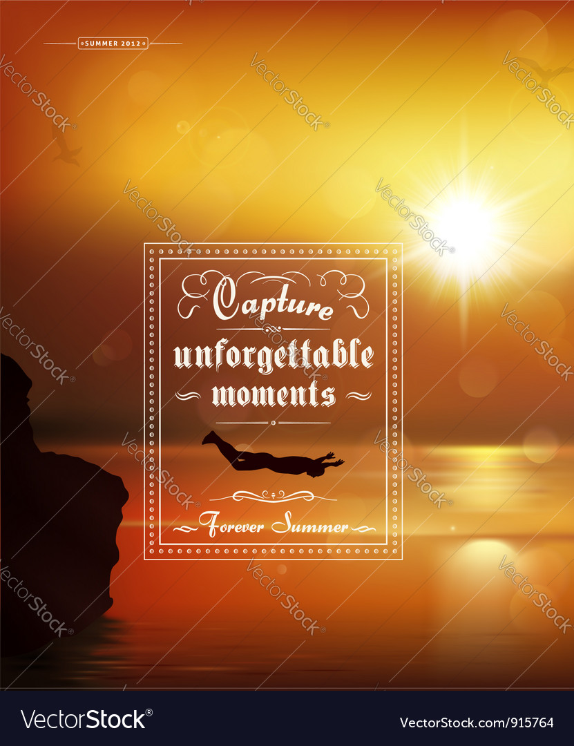 Typography summer poster vector | Price: 1 Credit (USD $1)
