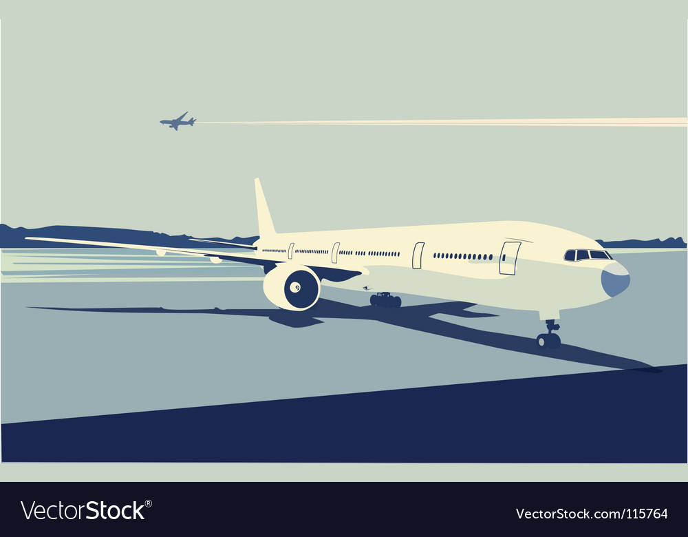 Urban airport vector | Price: 1 Credit (USD $1)