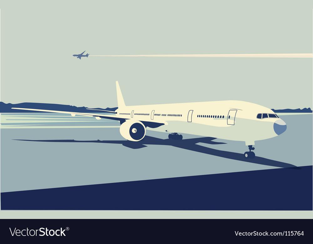 Urban airport vector | Price: 1 Credit (USD $1)