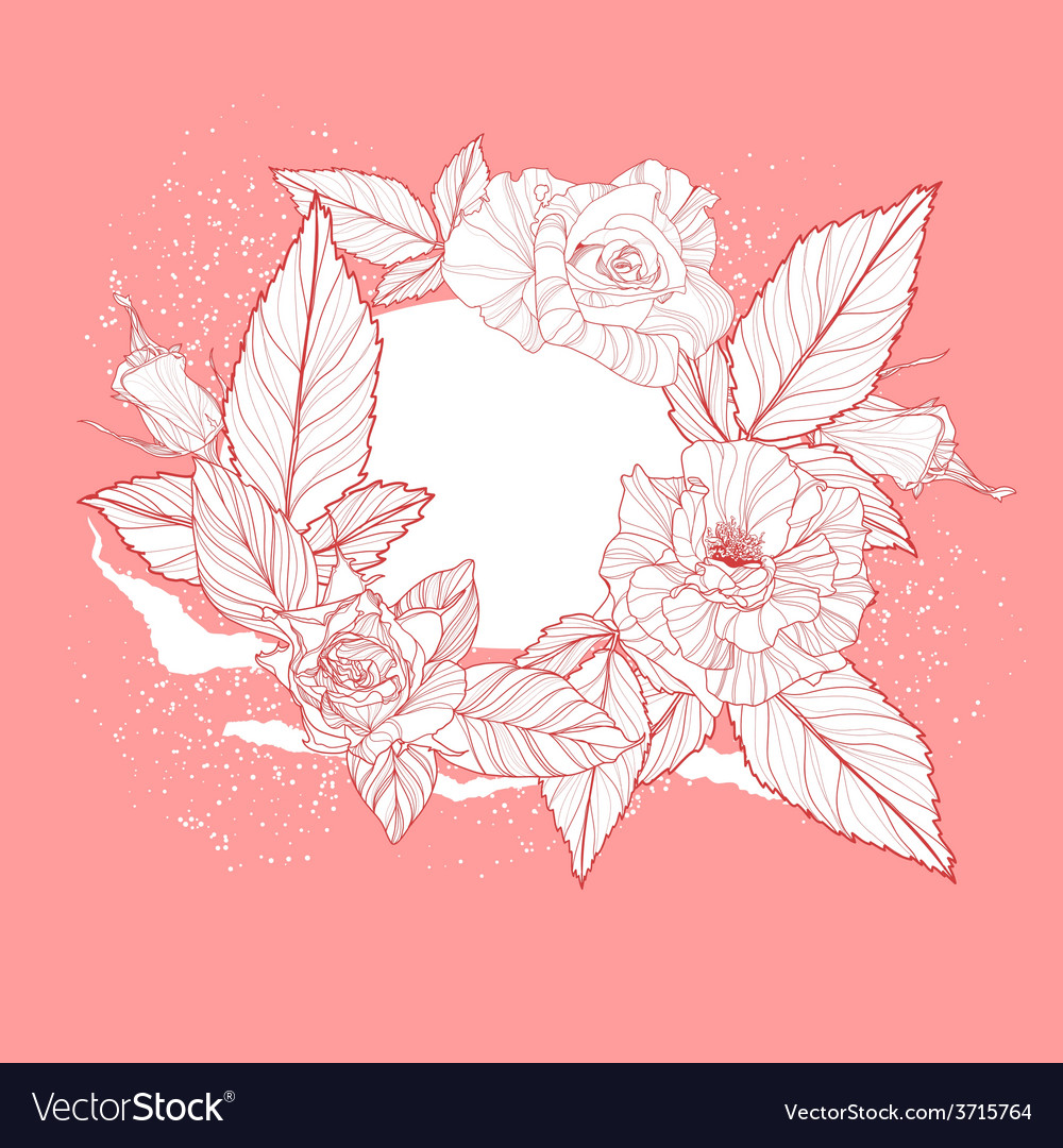 Valentines day design with rose vector | Price: 1 Credit (USD $1)