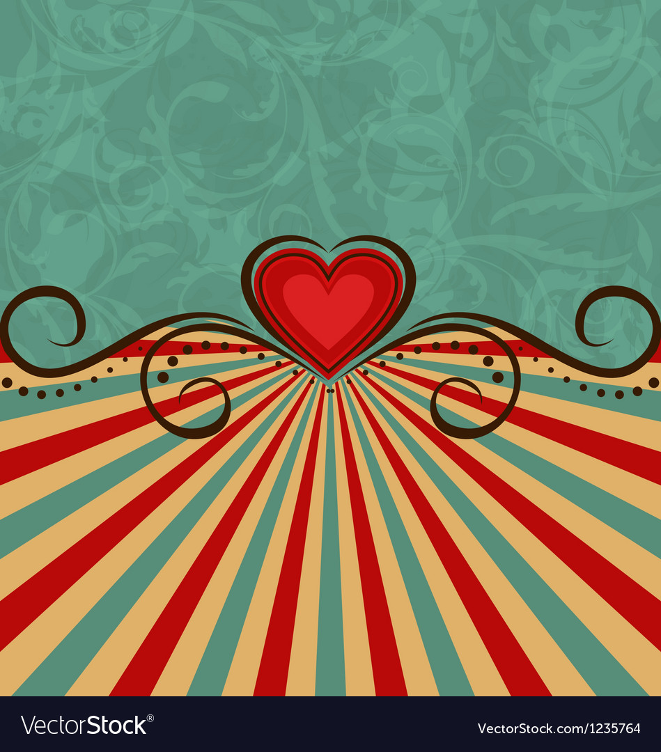Valentines day vintage background vector | Price: 1 Credit (USD $1)