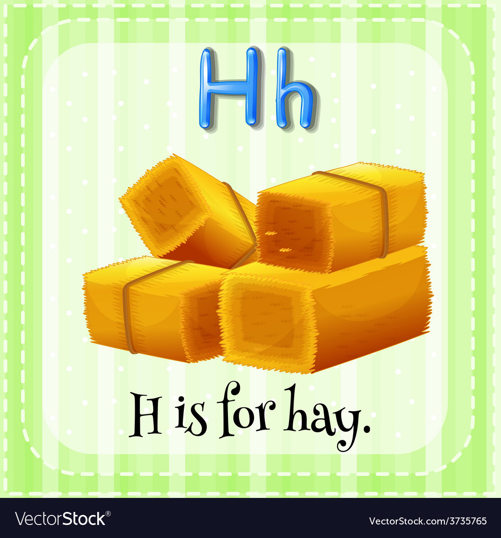 A letter h for hay vector | Price: 1 Credit (USD $1)