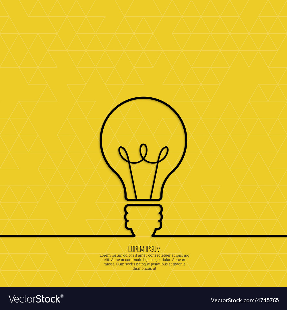 Bulb light idea vector | Price: 1 Credit (USD $1)