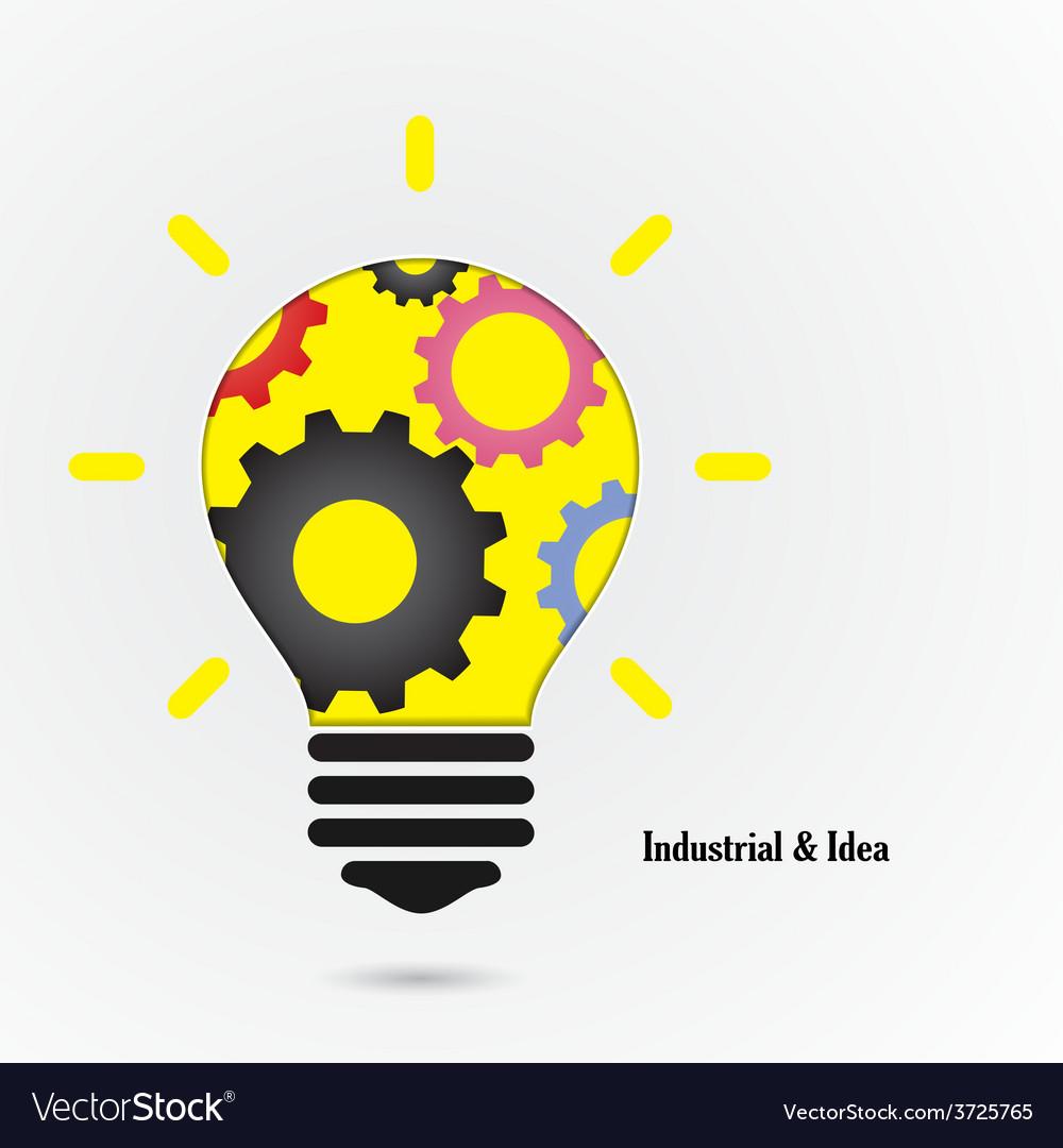 Creative light bulb idea concept background vector | Price: 1 Credit (USD $1)