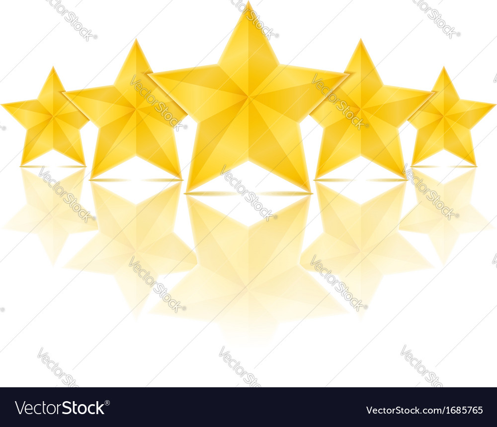 Five stars vector | Price: 1 Credit (USD $1)