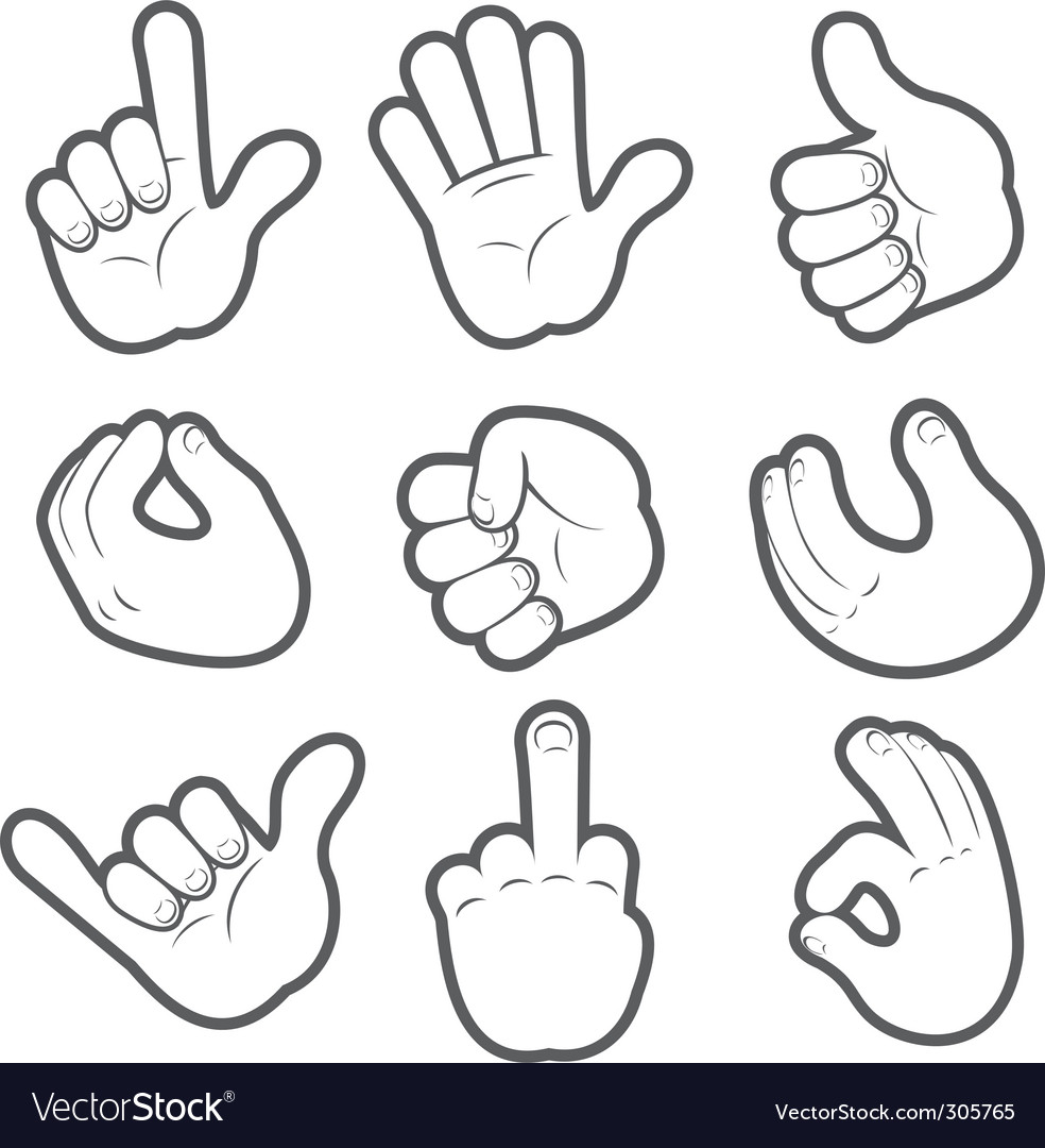 Hand icons vector | Price: 3 Credit (USD $3)
