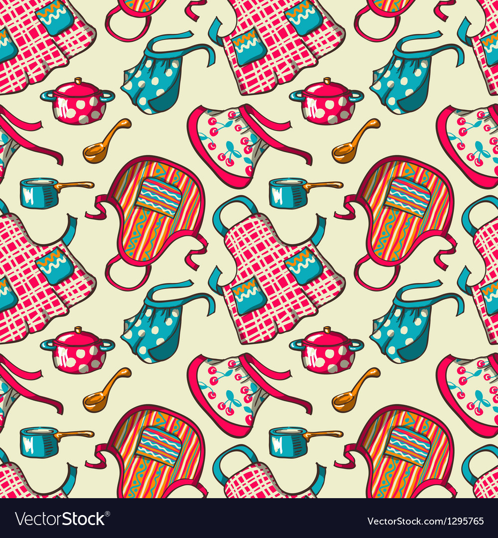 Kitchen aprons vector | Price: 1 Credit (USD $1)