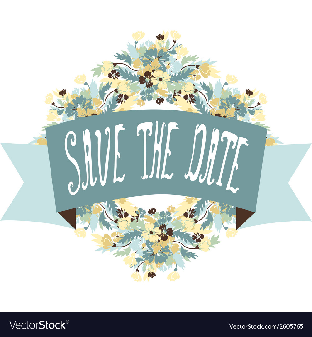 Save the date banner vector   Price: 1 Credit (USD $1)