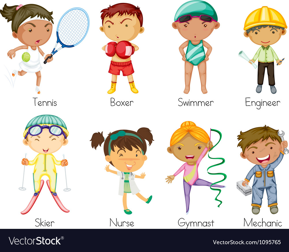 Sports kids vector | Price: 3 Credit (USD $3)