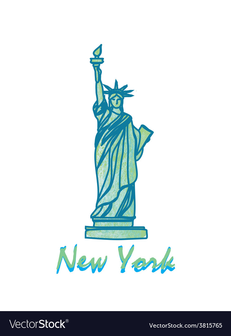 Statue of liberty - symbol of new york city vector | Price: 1 Credit (USD $1)