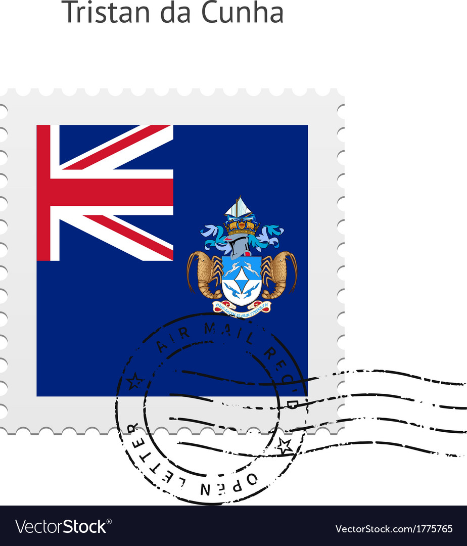 Tristan da cunha flag postage stamp vector   Price: 1 Credit (USD $1)