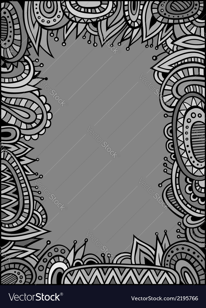 Abstract decorative ethnic border vector | Price: 1 Credit (USD $1)