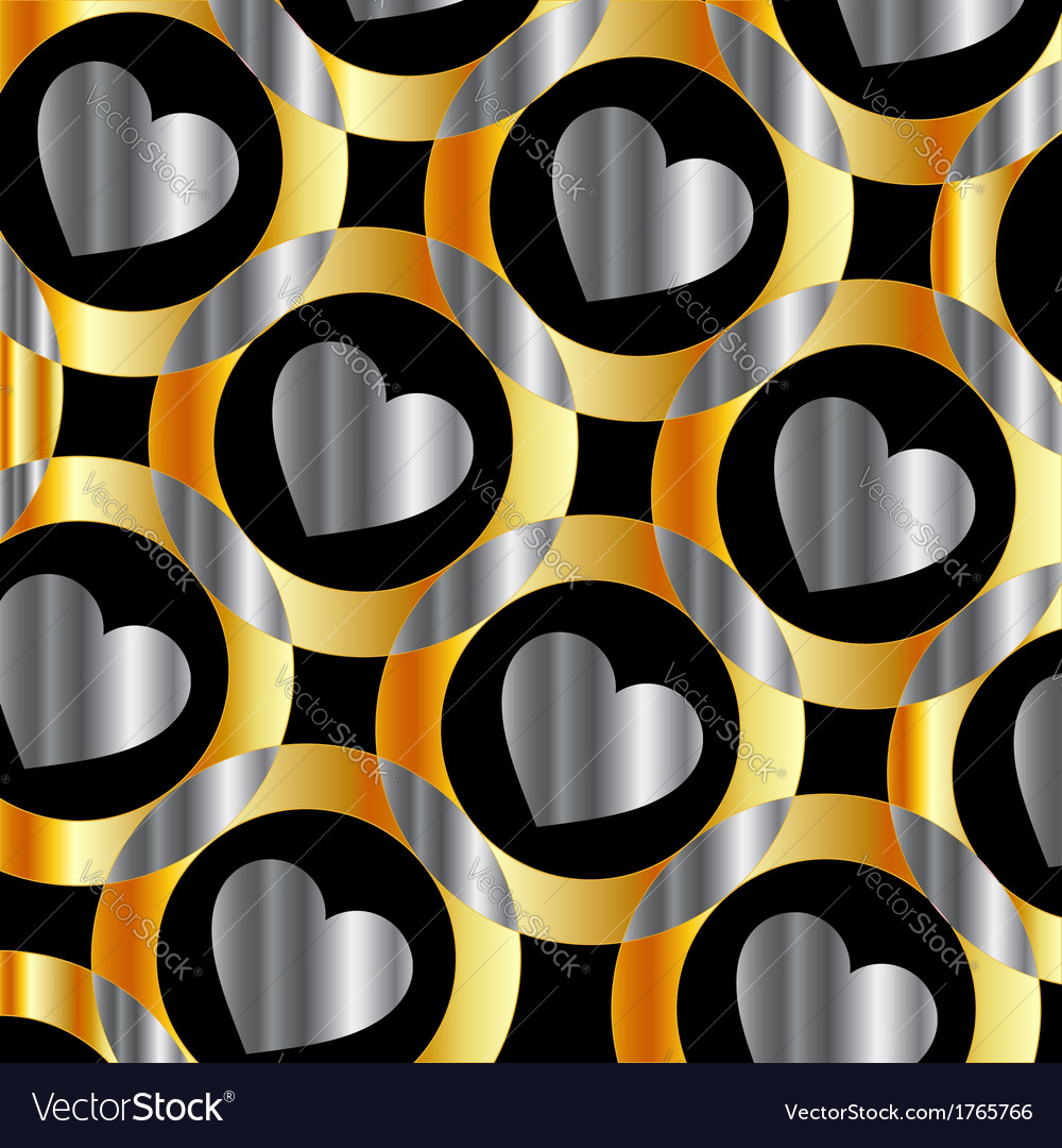 Background with metallic hearts vector | Price: 1 Credit (USD $1)