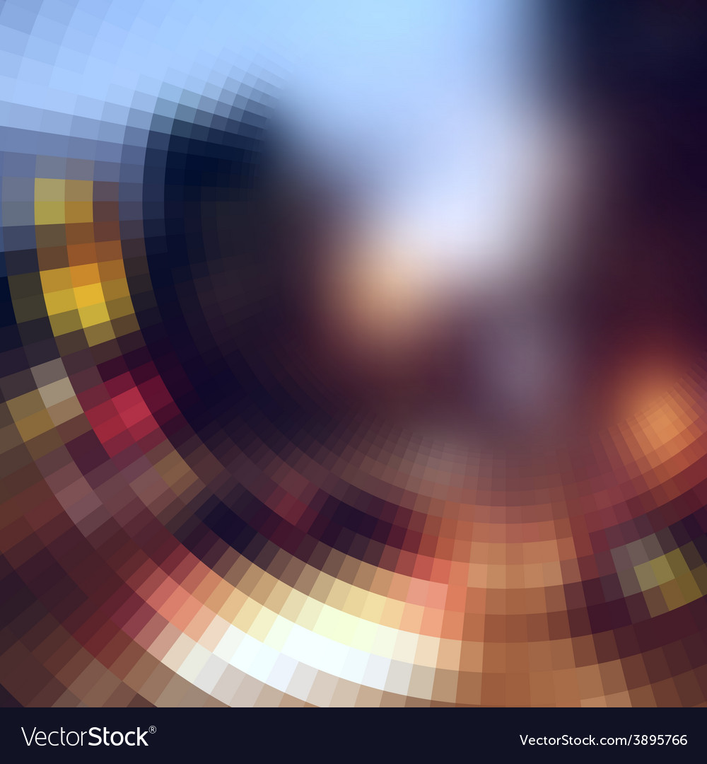 The blur effect gradually turning into faceted on vector | Price: 1 Credit (USD $1)