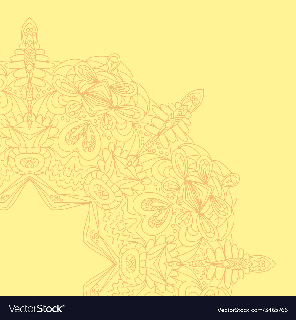 Circle lace hand-drawn ornament card ornamental vector | Price: 1 Credit (USD $1)