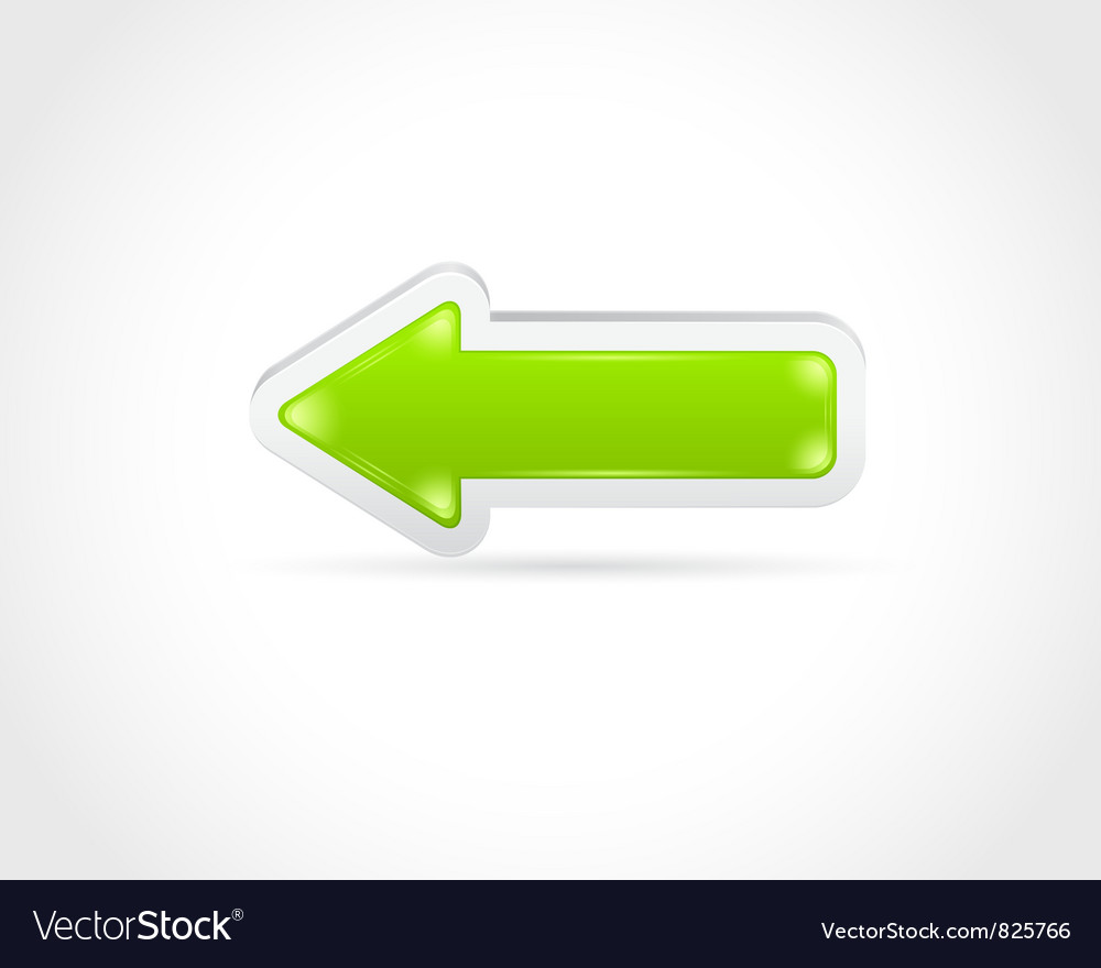 Color glass arrow icon vector | Price: 1 Credit (USD $1)