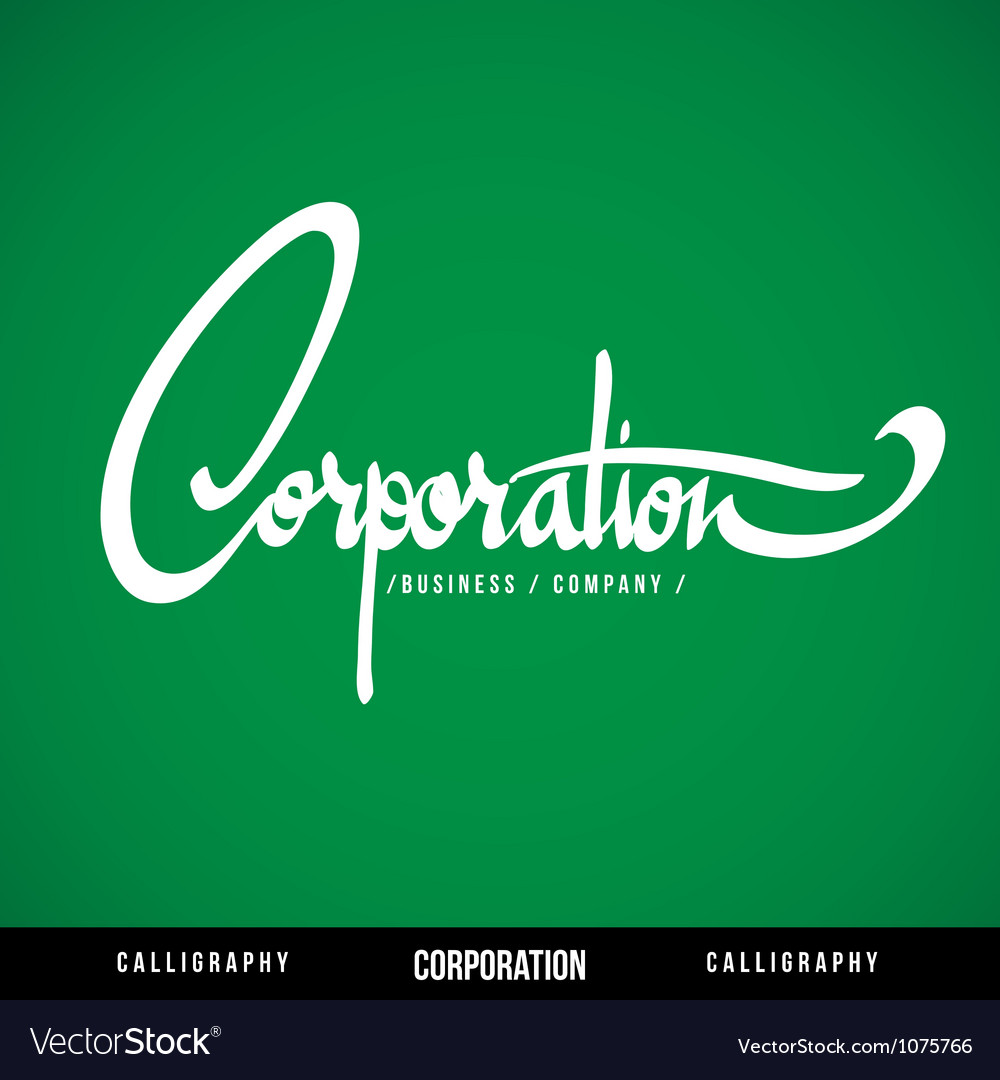 Corporation lettering vector | Price: 1 Credit (USD $1)