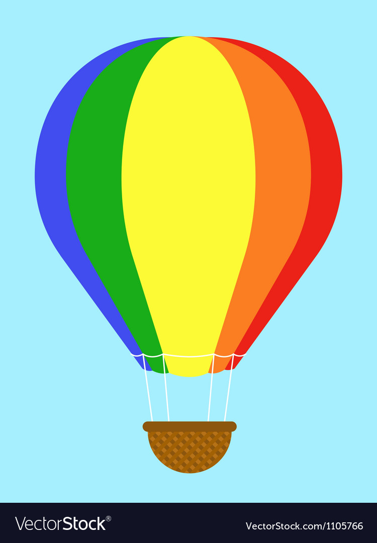 Coulourful hot-air balloon vector | Price: 1 Credit (USD $1)