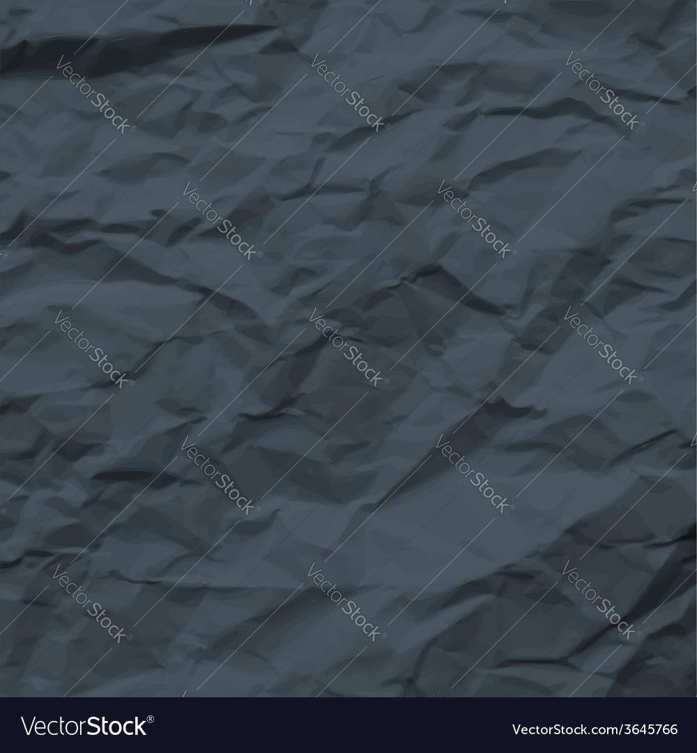 Dark texture of crumpled paper vector   Price: 1 Credit (USD $1)