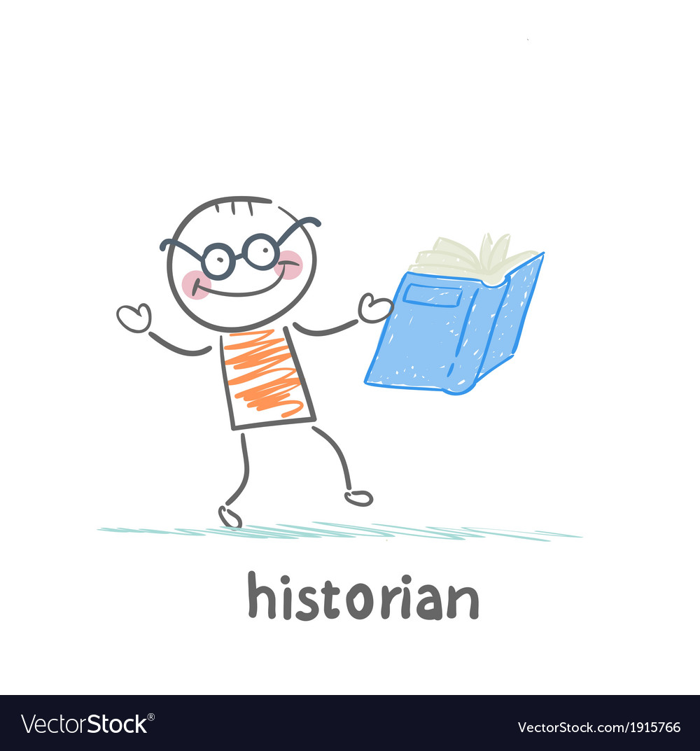 Historian book readers vector | Price: 1 Credit (USD $1)
