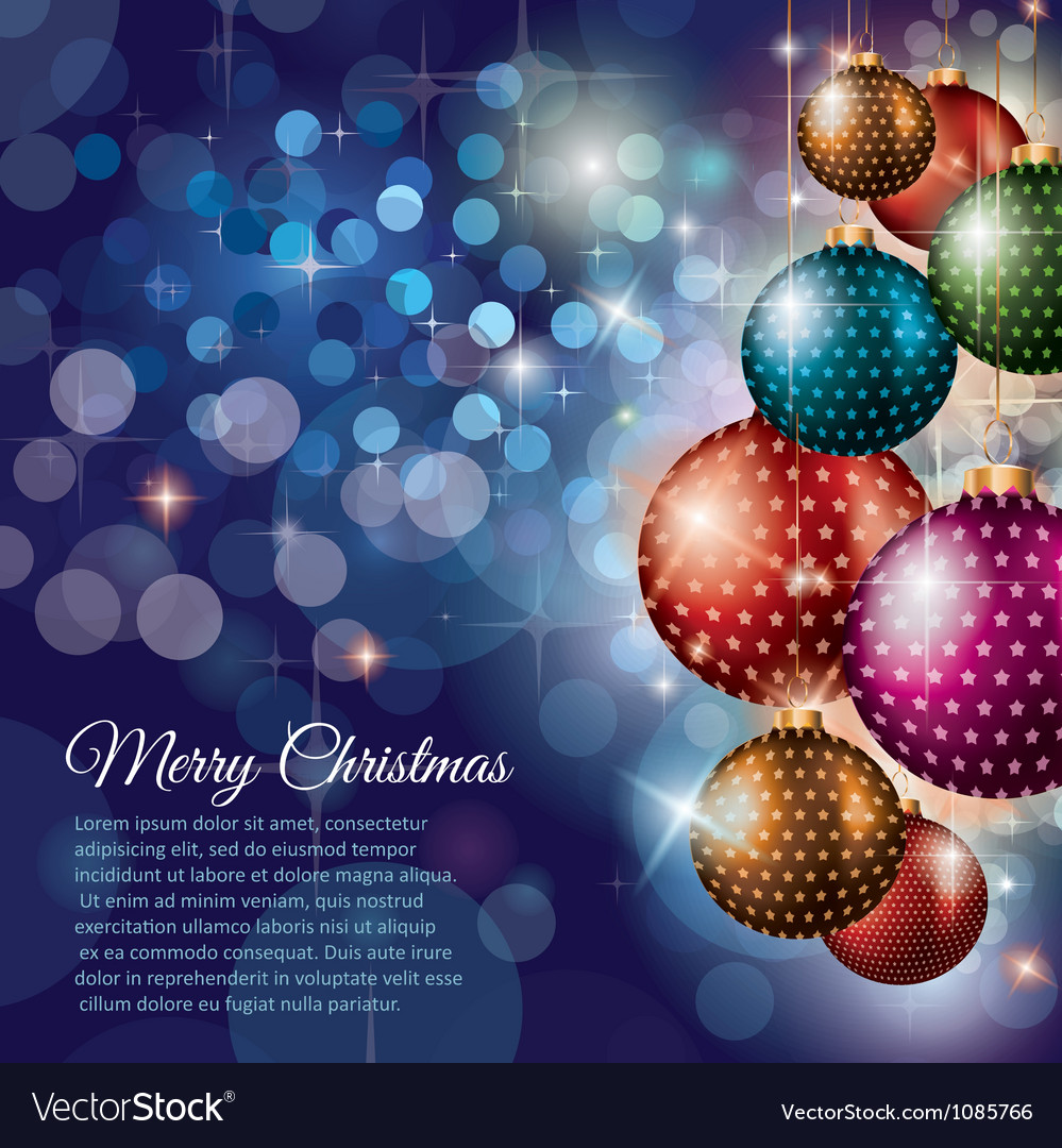 Merry christmas flyer with glitter background vector | Price: 1 Credit (USD $1)