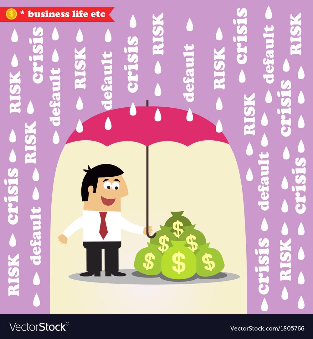 Money risk management vector | Price: 1 Credit (USD $1)