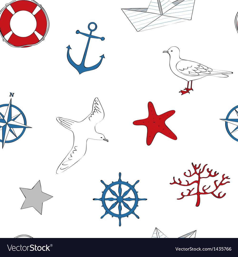 Nautical seamless vector | Price: 1 Credit (USD $1)