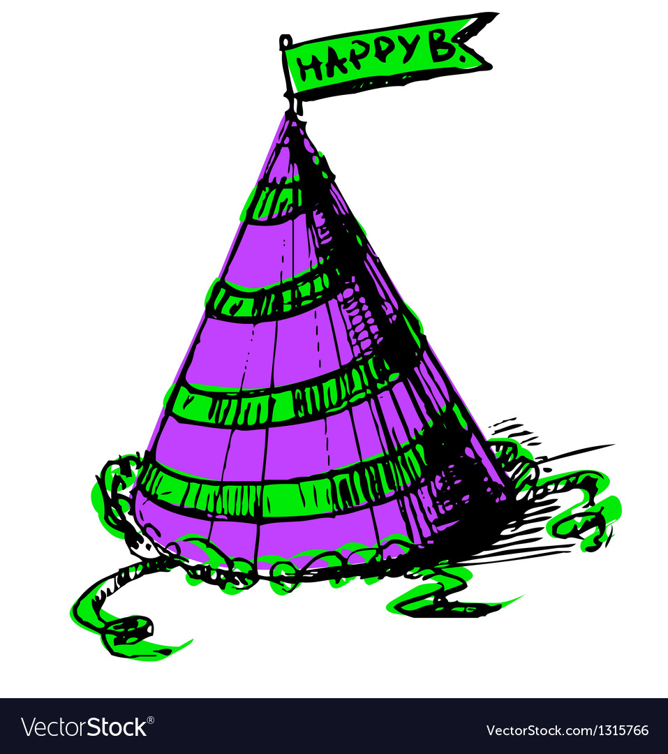 Party cap decorated vector   Price: 1 Credit (USD $1)