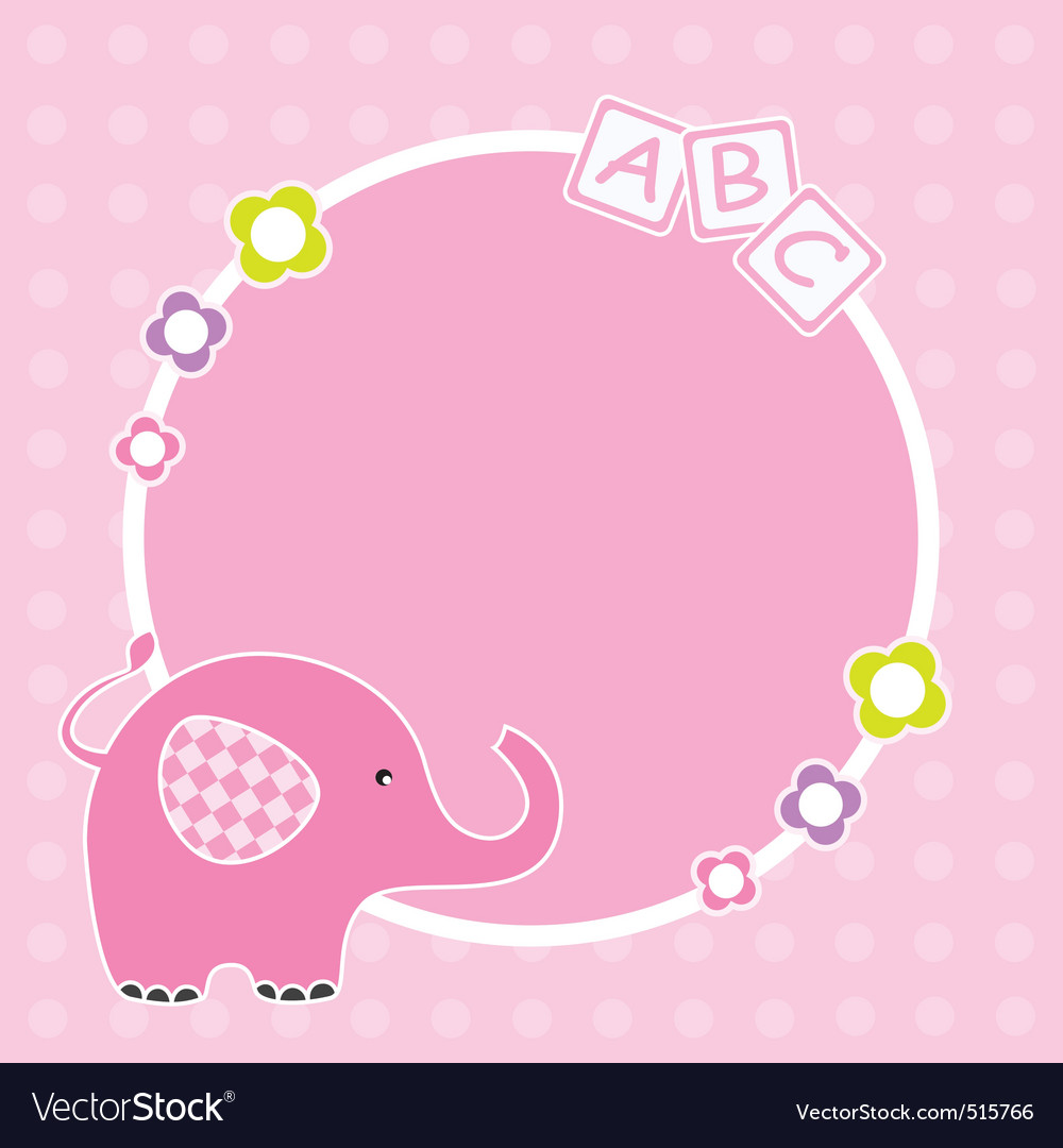 Pink elephant framework vector | Price: 1 Credit (USD $1)